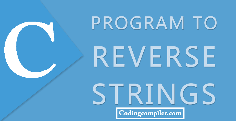 C Program to Reverse a String