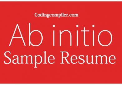 Ab Initio Sample Resume