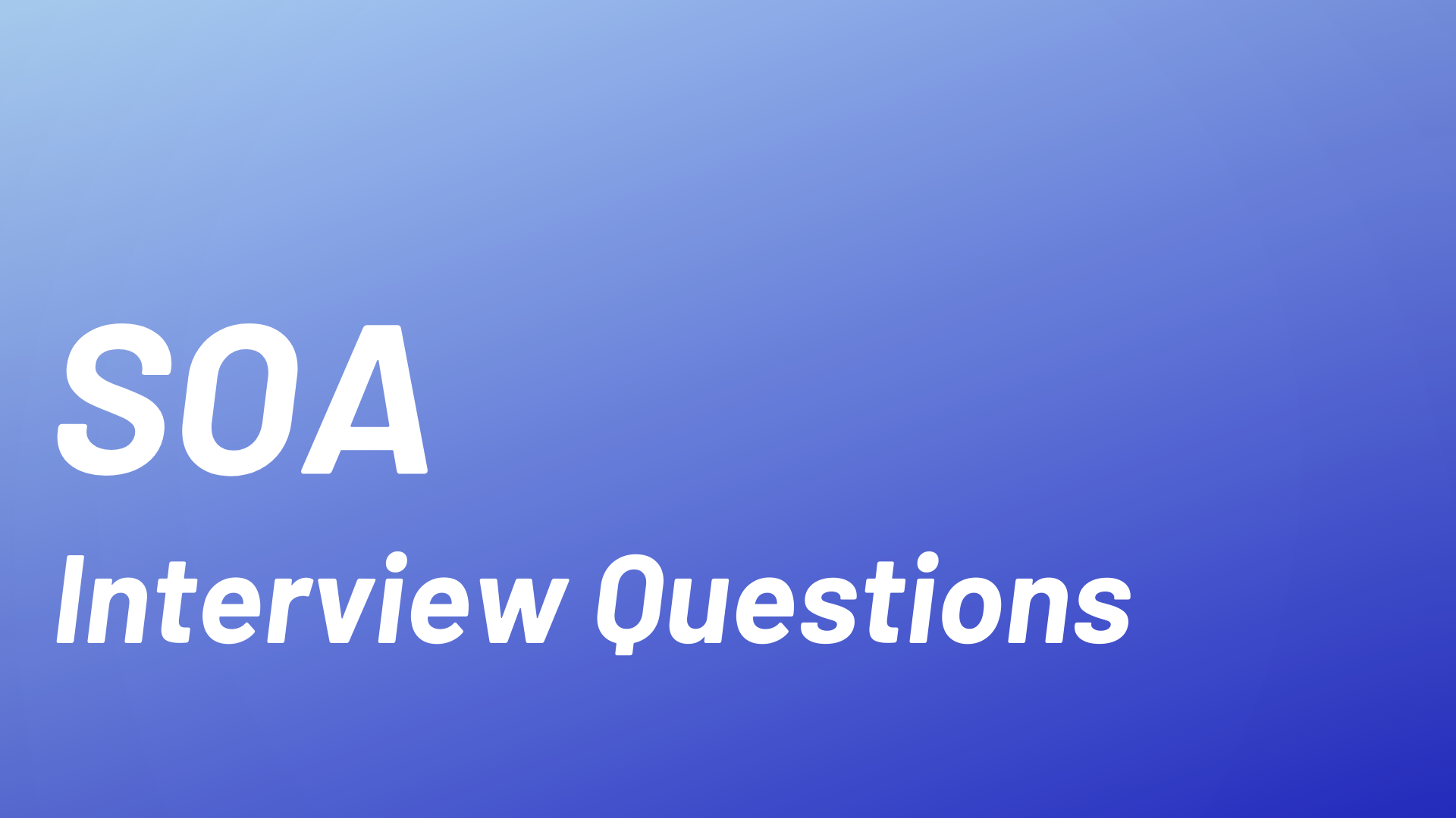 SOA Interview Questions