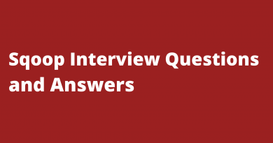 Sqoop Interview QUestions