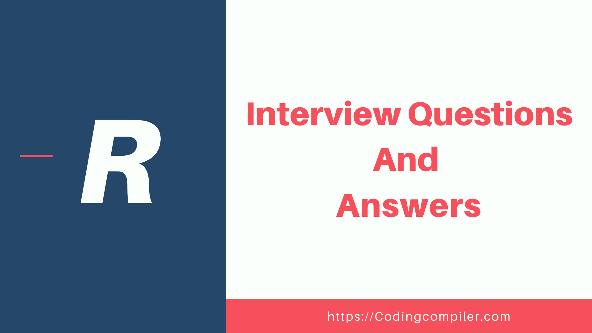 R Interview Questions