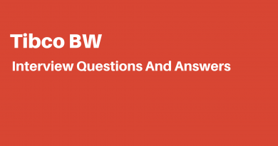 Tibco BW Interview Questions
