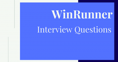 WinRunner Interview Questions