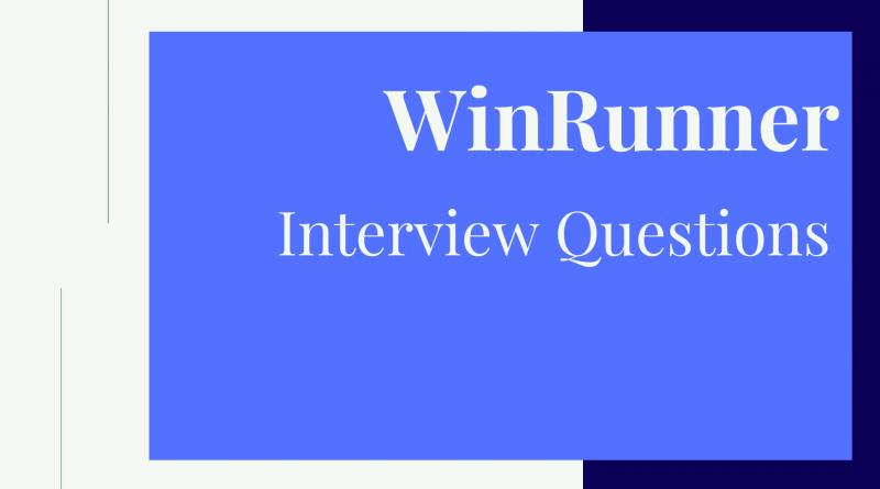 WinRunner Interview Questions