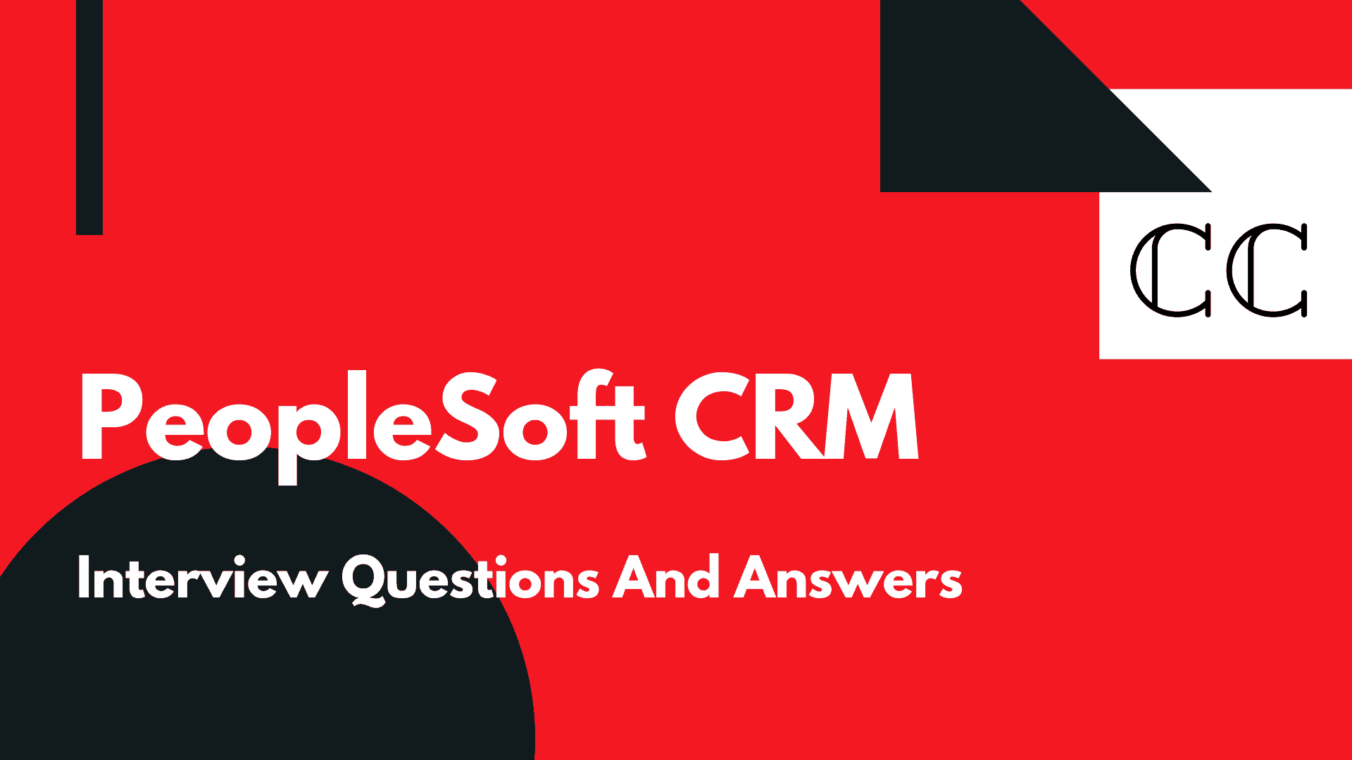PeopleSoft CRM Interview Questions