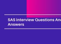 SAS Interview Questinos