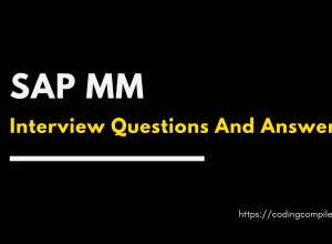 SAP MM Interview Questions