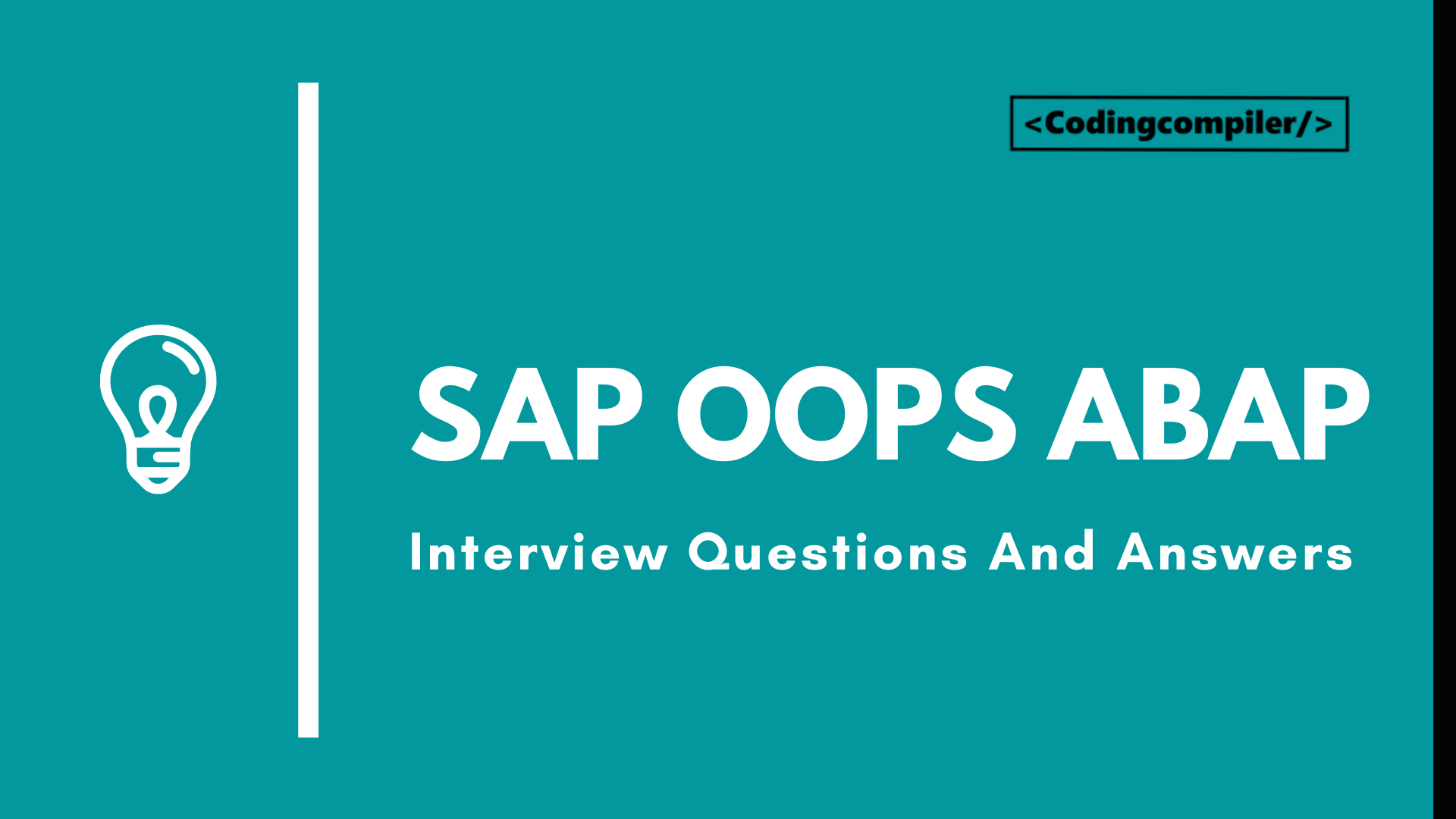 SAP OOPS ABAP Interview Questions