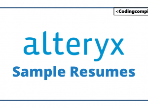Alteryx Sample Resumes
