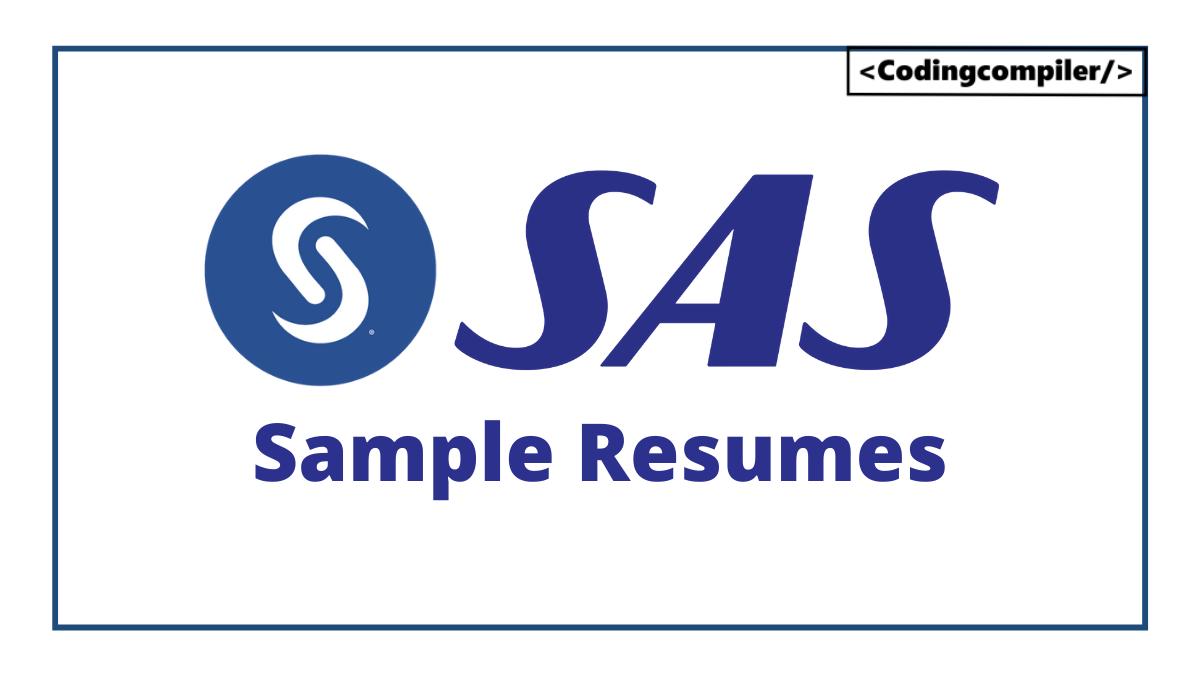 SAS Sample Resumes