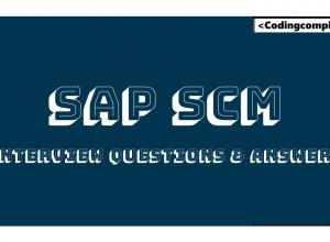 SAP SCM Interview Questions