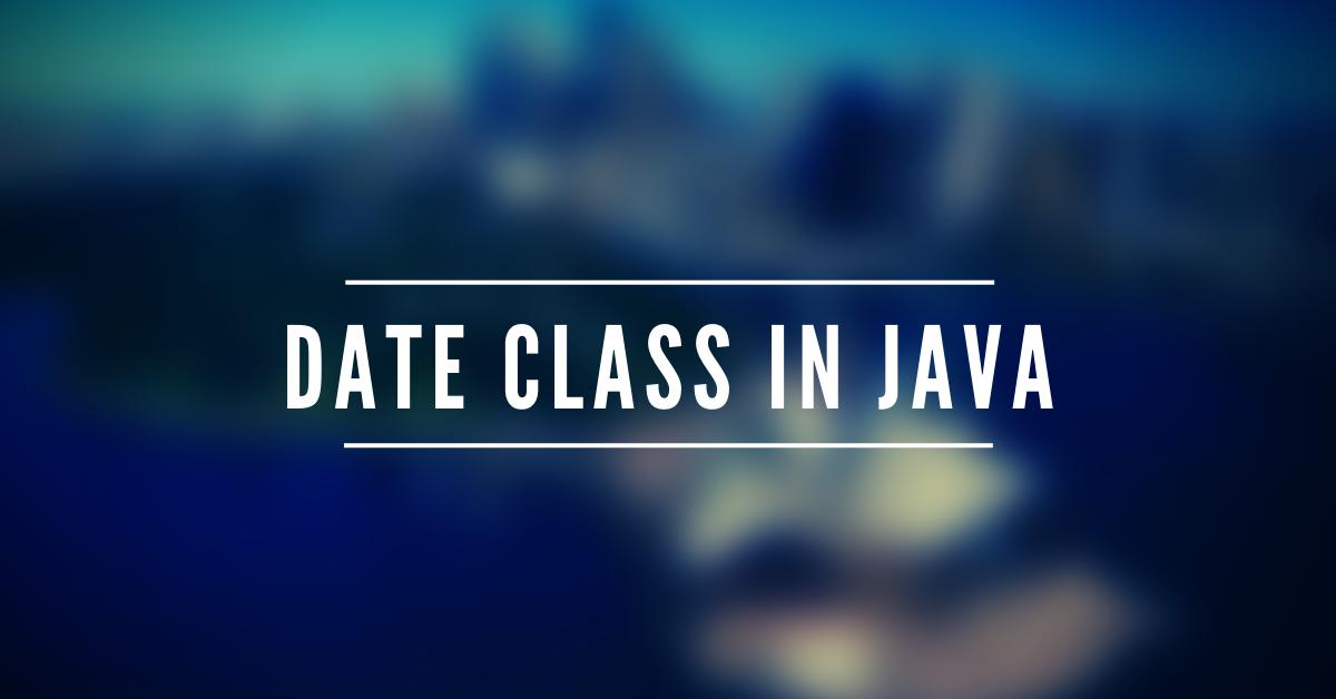Date Class in Java