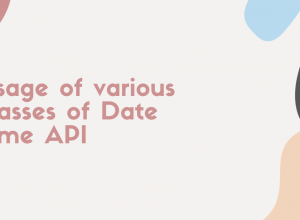 Usage of various classes of Date Time API