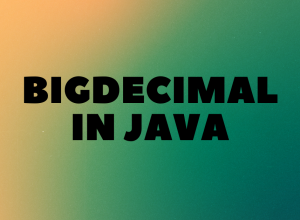 Bigdecimal in Java