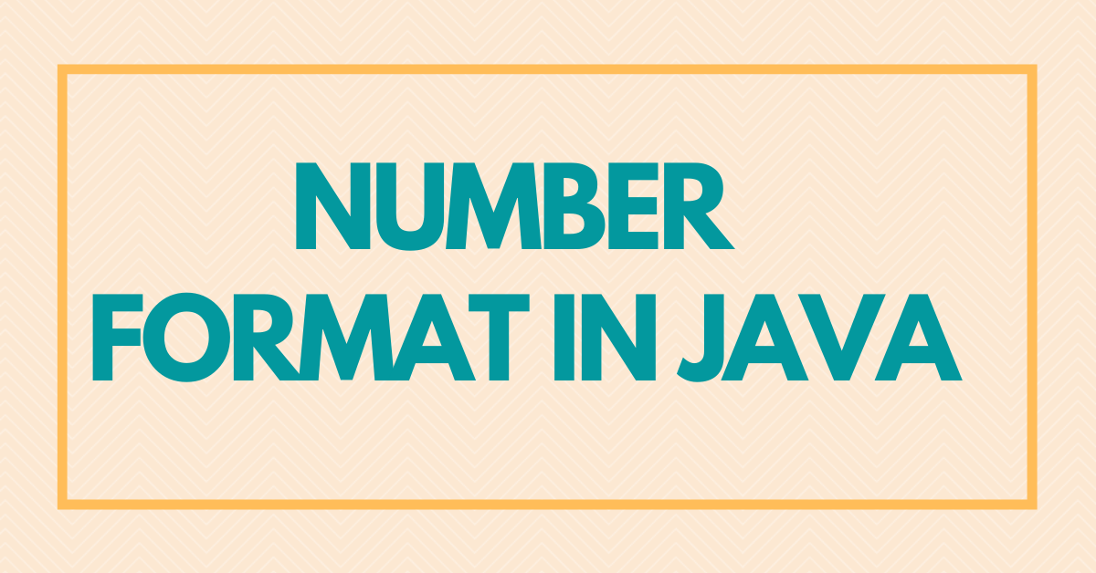 Number Format in Java