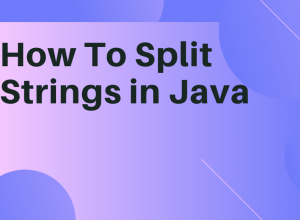 Split Strings in Java