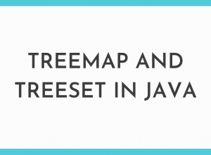 Treemap and Treeset in Java
